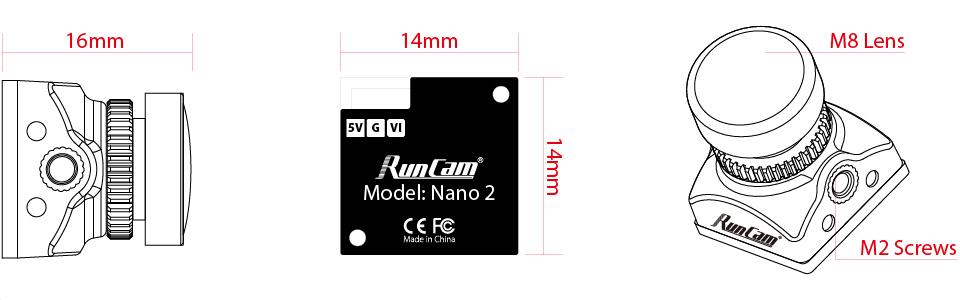 Cámara RunCam Nano 2 -BL- L-21