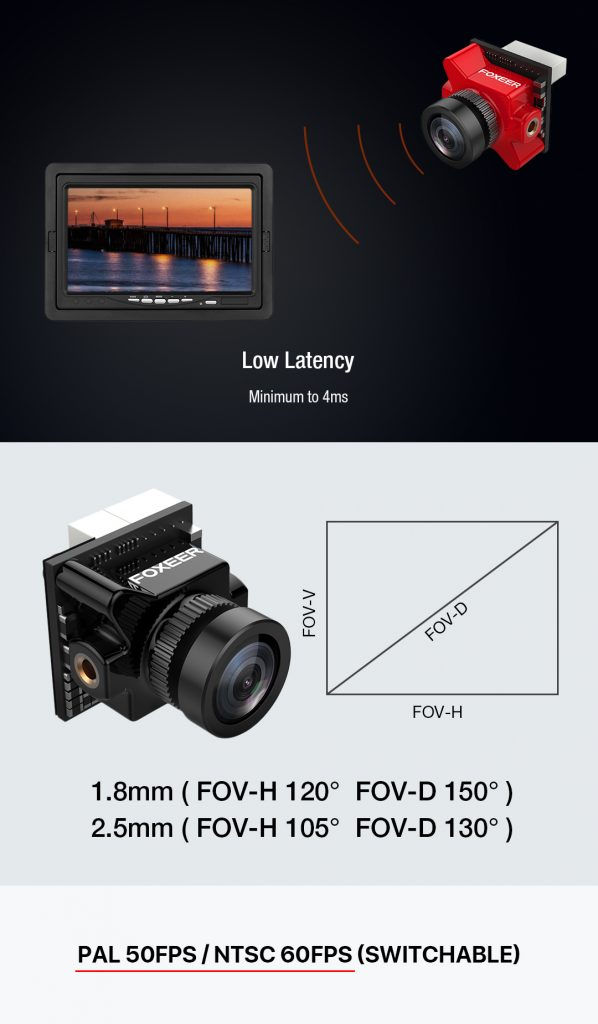 Cámara Foxeer Predator V3 HS1218 1.8mm