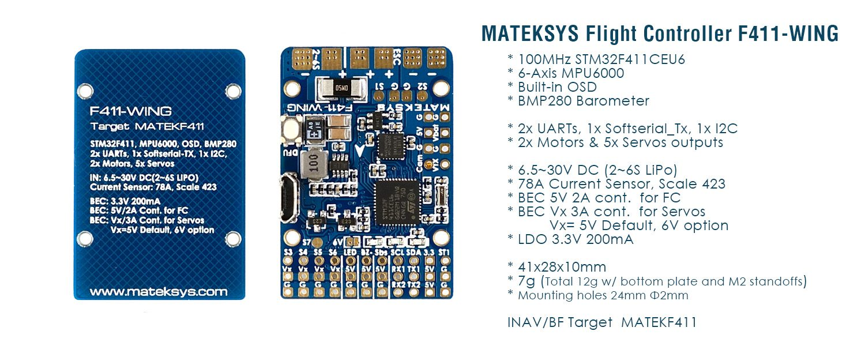 Control de Vuelo Matek F-411 Wing