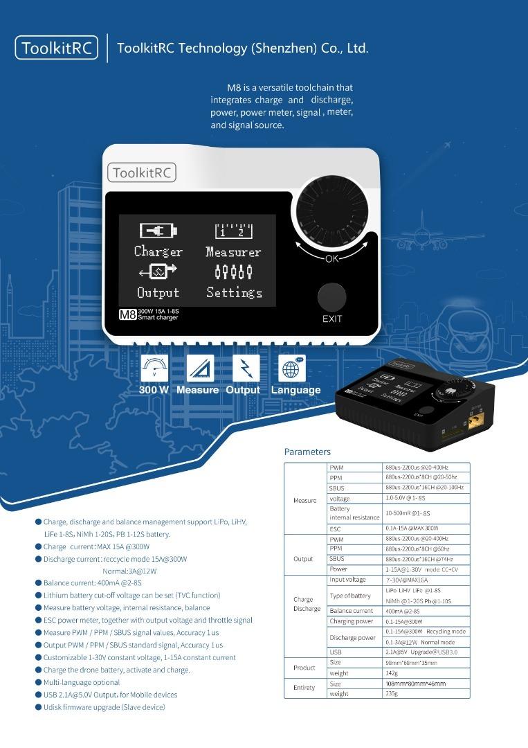 ToolkitRC M8 300W 15A