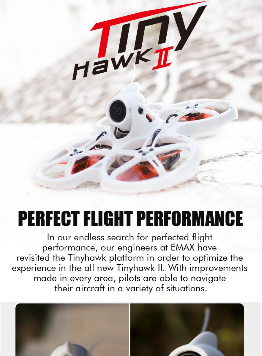 EMAX TinyHawk Micro FPV Drone sin escobillas con RunCam Nano 2 (BNF)