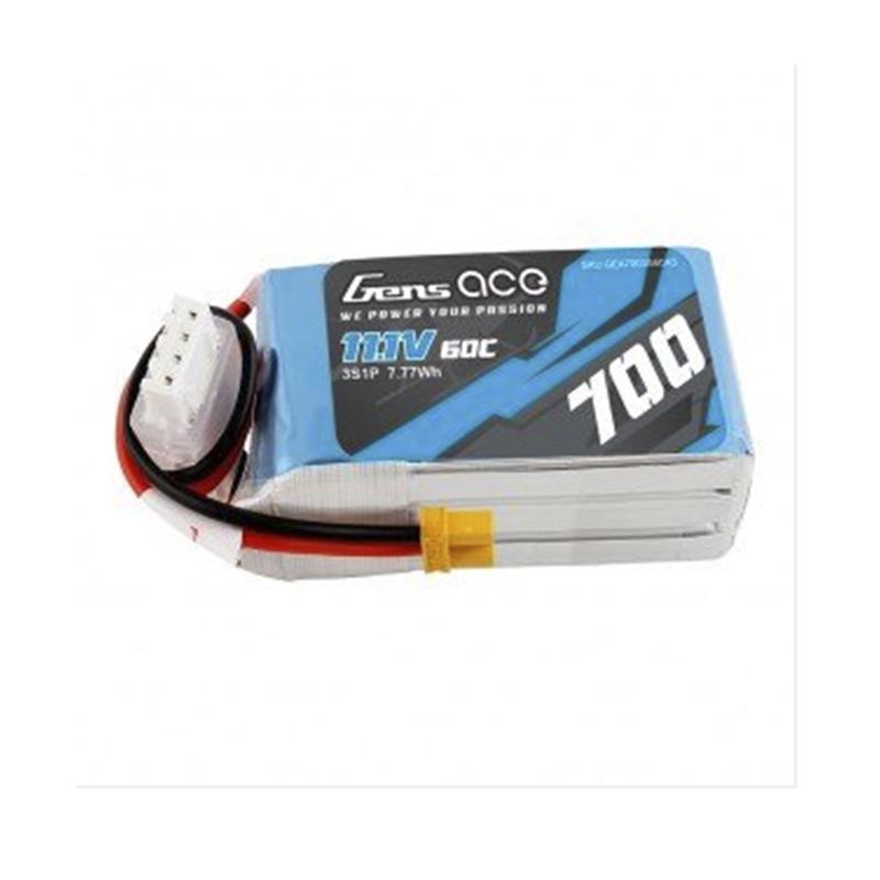 batería lipo gens ace 700mAh 11.1V 60C 3S1P con enchufe XT30